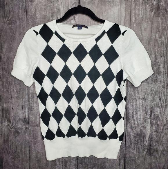 346 brooks brothers Sweaters - Diamond print top